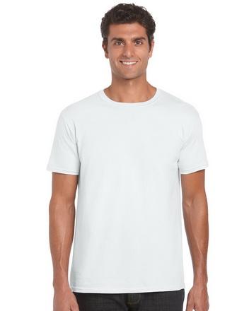 Gildan T-shirt λευκό 100% βαμβακερό με στρογγυλή λαιμόκοψη