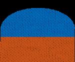 πορτοκαλί-μπλέ